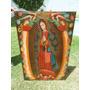 Óleo Sobre Lienzo Virgen De Guadalupe Con Querubines