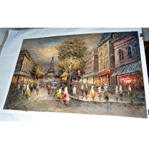 Pintura Al Óleo: Parisino En Medidas 60 X 90 Cm