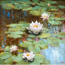 Water Lily - Cuadros, Pinturas Al Oleo De Dmitry Spiros