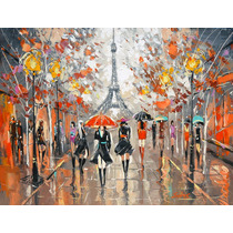 Evening, Paris - Cuadros, Pinturas Al Oleo De Dmitry Spiros