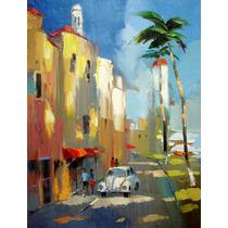 La Calle, Isla Mujeres - Pinturas Al Oleo De Dmitry Spiros
