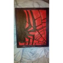 Vendo Pintura Del Simbolo De Spider Man Pintado A Oleo.