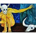 Descendio A Los Infiernos Iii Oleo Original Kinkin Diablo