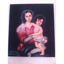 Pintura Óleo De Virgen Con Niño