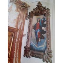 Pintura Al Oleo Y Marco De Cedro Asencion De Cristo