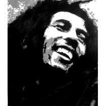 Cuadro En Acrílico Estilo Pop Art Bob Marley (55cm X 63cm)