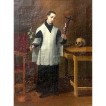 Jose Maria Vasquez Oleo San Luis Gonzaga 1823 Pintura