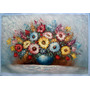 Pintura Al Óleo: Florero En Medidas 60 X 90 Cm