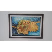 Cuadro Al Óleo Dos Girasoles De Van Gogh