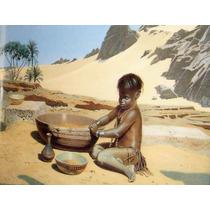 El Niño Del Desierto Grabado Antiguo
