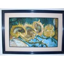 Pintura Oleo Sobre Tela 4 Girasoles Copia De Van Gogh.$3,500