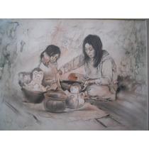 Precioso Dibujo Firmado Dimitar Krustev