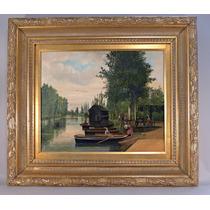Pintura De Un Bello Paisaje. Pintor Belga : Joseph Vola