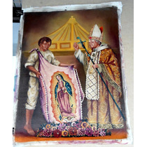 Juan Pablo I I Y Juan Diego. Óleo 50 X 70 Cm Envío Gratis