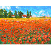 Field And Poppies - Pinturas Al Oleo De Dmitry Spiros