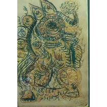 Maestro Ariosto Otero Reyes *muralista* Litografia 7/15