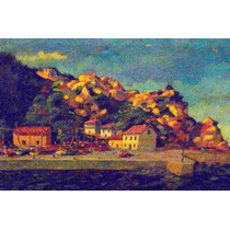 Bella Villa De Pescadores Anonimo Circa 1938 *oil On Canvas