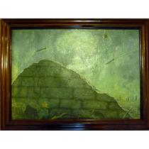 ( V-1 ) Rockets Second Worlds War *rare Oil Painting*