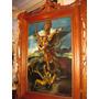 Pintura Al Oleo Marco De Cedro San Miguel Arcangel