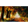 Arc Of Autumn, Impresión Lienzo Alta Calidad Leonid Afremov