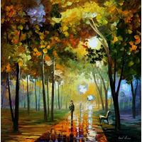 Pintura Al Oleo Del Maestro Leonid Afremov , Paisaje, Figura