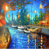 City Of My Dreams - Cuadros, Pinturas De Dmitry Spiros