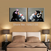 Oleo Gorillas Arte Pintura