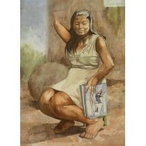 Julio Pastor Marvan *mujer Indigena Soñando*