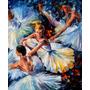 Before Perform - Pintura Óleo Maestro Leonid Afremov, Ballet