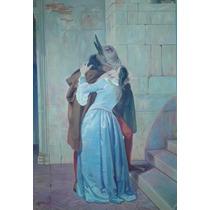 Pintura Al Óleo, El Beso, Envío Gratis