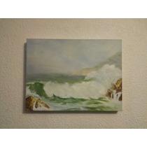 Pintura Al Oleo Marina Del Oceano Pacifico