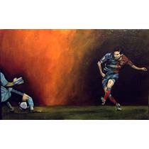 Messi ,pintura Al Oleo