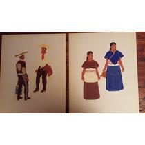 Carlos Merida Mexican Costume Serigrafia Grabado Pintura Art