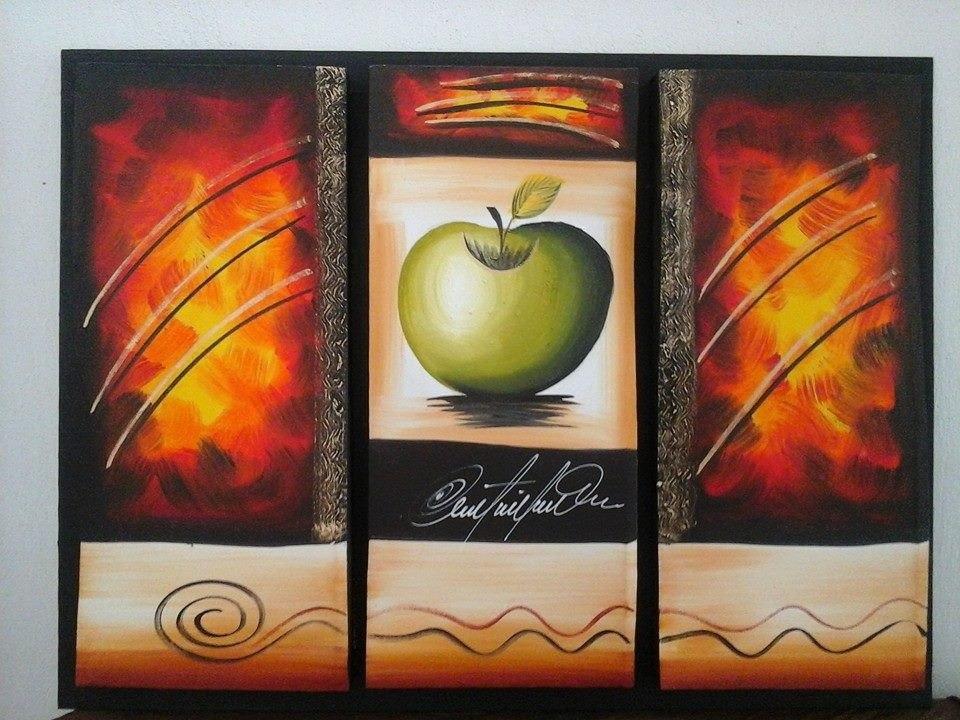 Cuadros tripticos modernos y elegantes al oleo - Triptico cuadros modernos ...
