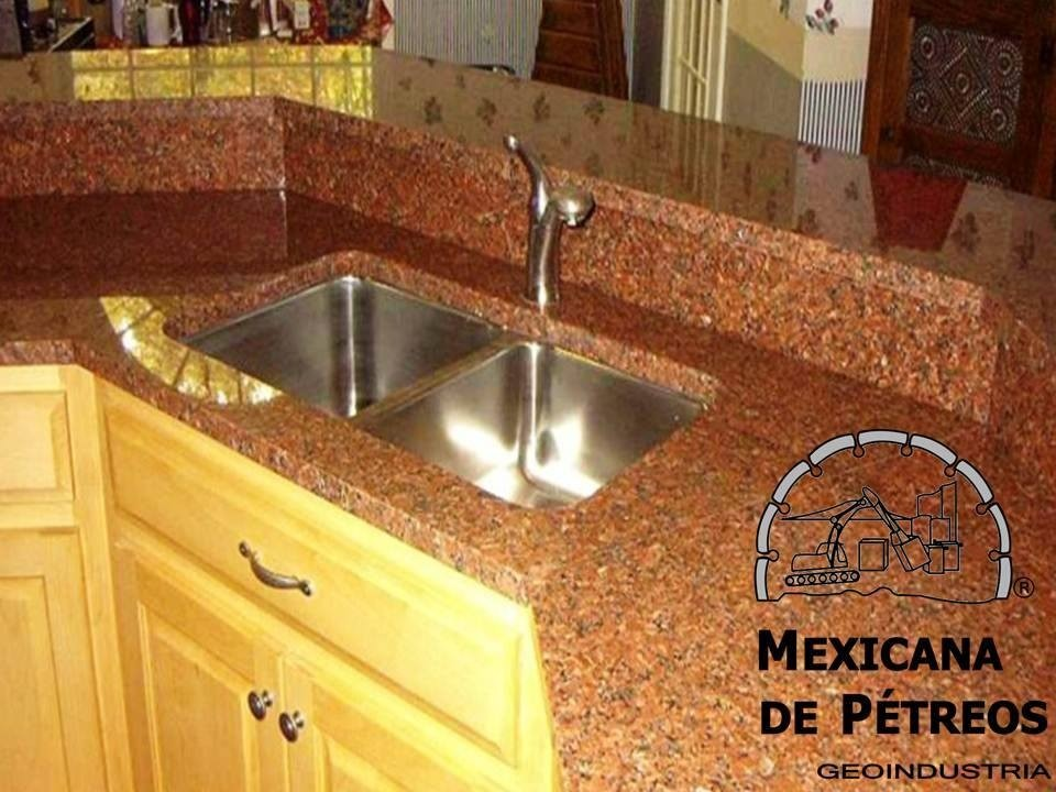 Cubiertas de granito rojo capao para cocinas integrales for Cubiertas de granito
