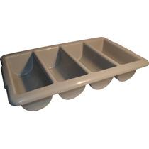 Caja Plastica Para Cubiertos 4 Copartimientos (gris)