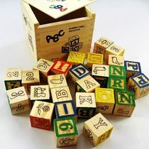 Cubos De Madera Didáctico Con Letras