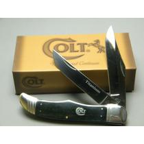 Ct313 Colt Hunter Navaja Hueso Obscuro 2 Hojas Titanium