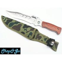 Cuchillo Acero P Caza, Camping M2320 Full Tang C Lampara Led