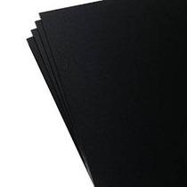 4 Paquete De Kydex Láminas De Plástico Negro De 8 X 12 X .