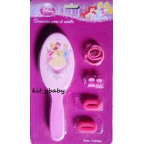 Princesas Disney:accesorios P/cabello Cepillo,pinzitas,donas