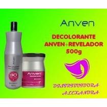 Decolorante Tarro 500g + Revelador 30vol 1 Litro Anven
