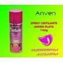 Spray Cintilante Anven Plateado 146g