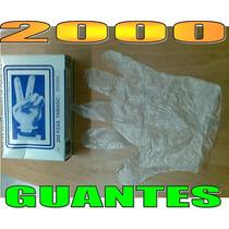 2,000 Guantes Desechables Polipapel Polietileno