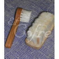 Cepillo Facial + Cepillo De Masaje, Cerdas Naturales