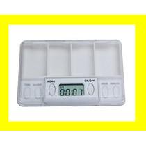 Pastillero Programable Con 4 Alarmas, Pildoras, Pastillas