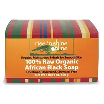 16 Oz Raw Negro Africano Soap Bar Desde Ghana - Body Wash Sh