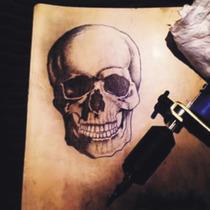 Piel Sintética Tatuar Tatuaje Tattoo Kit Aguja Guante Tintas
