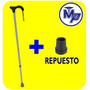 Baston Aleman Ajustable Aluminio - Repuesto Incluido- Ligero