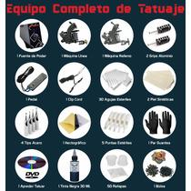 Kit Para Tatuar 2 Maquinas 30 Agujas Tatuajes Tattoo Tintas